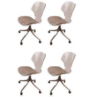 Lucite Swivel Dining Chairs by Hill Manufacturing Company For Sale