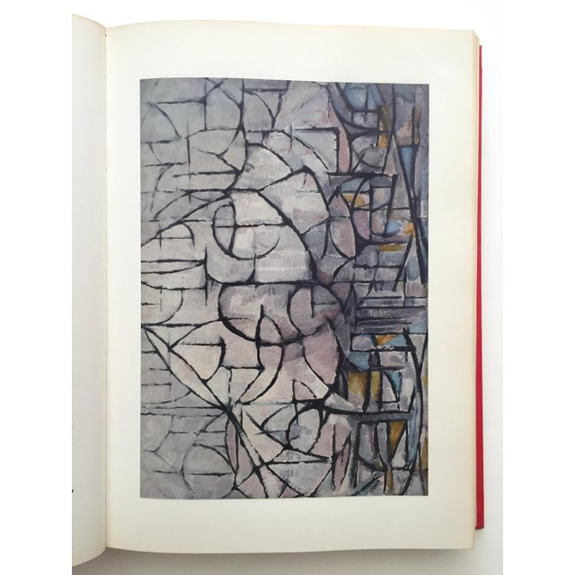 """Abstract """" Piet Mondrian - Life and Work """" Rare Vintage 1956 1st Edtn Collector's Iconic Large Volume Lithograph Print Modernist Art Book For Sale - Image 3 of 13"""