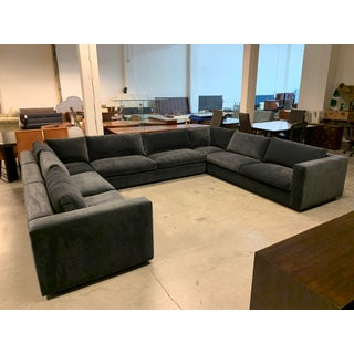 New Custom Three Piece Sectional + Down Cushions + Velvet Upholstery Preview