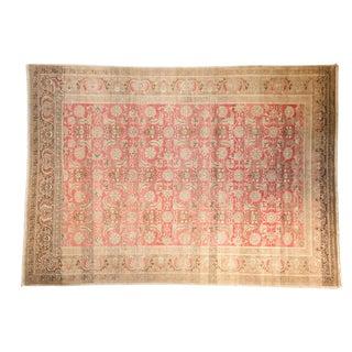 """Vintage Distressed Sivas Carpet - 6'9"""" X 9'6"""" For Sale"""