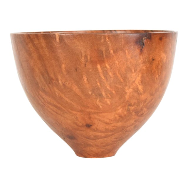 Decorative Madrone Wood Bowl Signed Jim Misenko For Sale