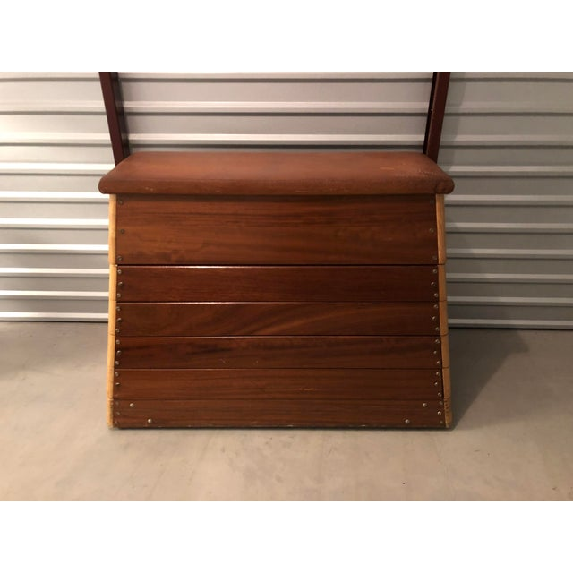 Early 20th century Czechoslovakian gym vault converted into a chest of drawers. Unique two-toned wood, pyramid shape &...