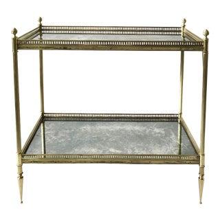 Vintage Maison Bagues 2-Tier Side Table For Sale
