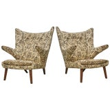 Image of Pair of Hans Wegner Papa Bear Chairs, Ap Stolen, Denmark, 1960s for Recovering For Sale