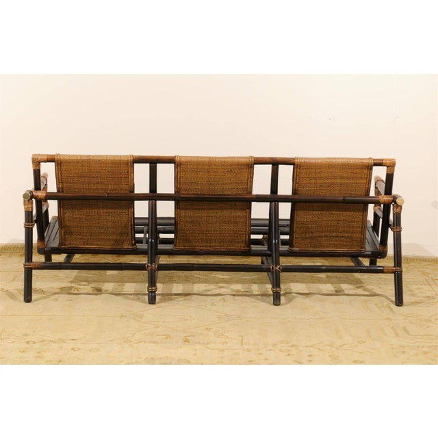 Ficks Reed Rare Restored Sofa by John Wisner for Ficks Reed- Four Available For Sale - Image 4 of 11