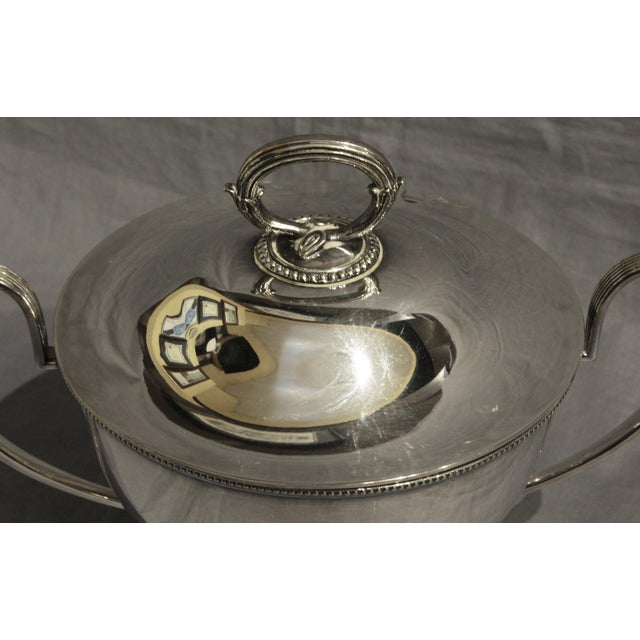 Goldsmiths & Silversmiths LTD Silver English Soup Tureen For Sale In Raleigh - Image 6 of 8