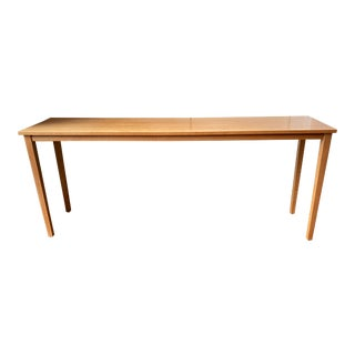 Mid-Century Modern Custom Maple Console or Sofa Table For Sale