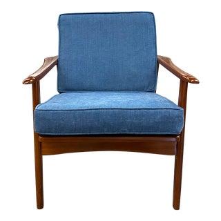 1950s Danish Modern Lounge Chair For Sale
