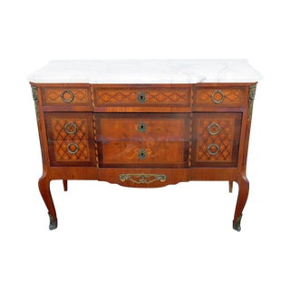 20th Century Louis XVI Style Marble Top Commode