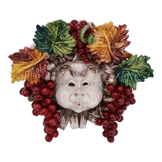 Apolito Italian Dionysus Wall Hanging Sculpture For Sale