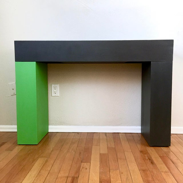 Modern Color Blocked Console Table For Sale In Philadelphia - Image 6 of 7