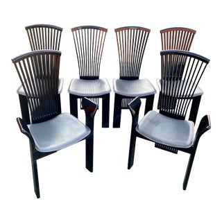 1980s Pietro Costantini Made in Italy Dining Chairs -A Set of Six For Sale