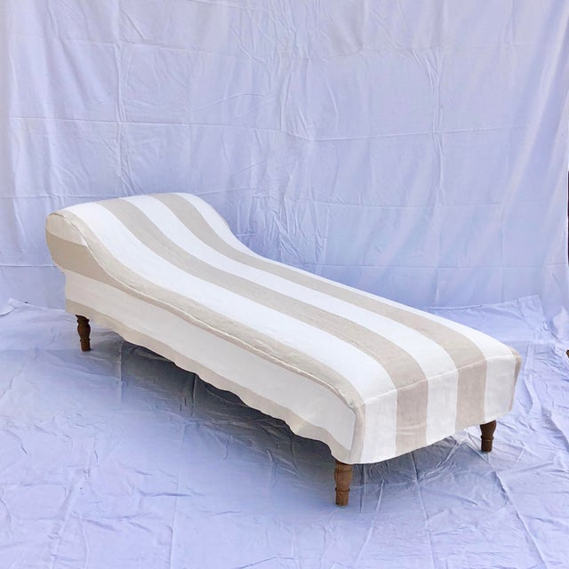 Midcentury Linen Slipcovered Daybed For Sale - Image 11 of 11