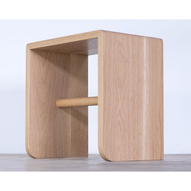 Shortcut Low Stool in White Oak For Sale - Image 4 of 7