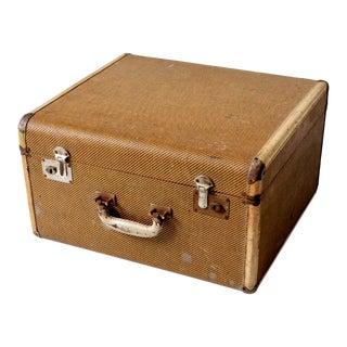 Vintage Square Suitcase For Sale