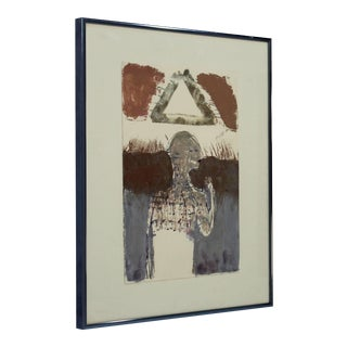 1990s Surrealist Framed Aquatint Etching by Sean Scully