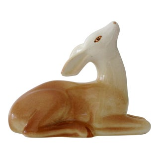 Ceramic Laying Doe Figurine For Sale