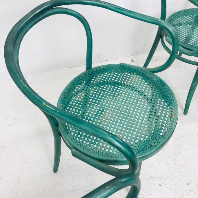Green Set of 8 Thonet Bentwood Dining Chairs For Sale - Image 8 of 10