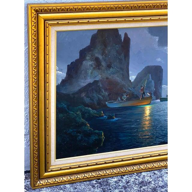 Evening Capri Seascape by Salvatore Federico, Italian, 20th Century For Sale - Image 9 of 11