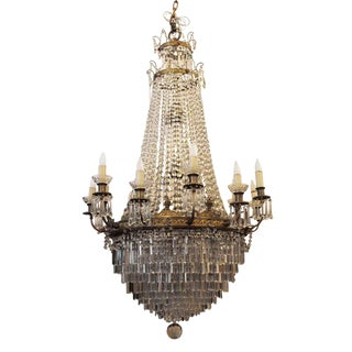 1927 Large Louis XVI Style Crystal Chandelier For Sale