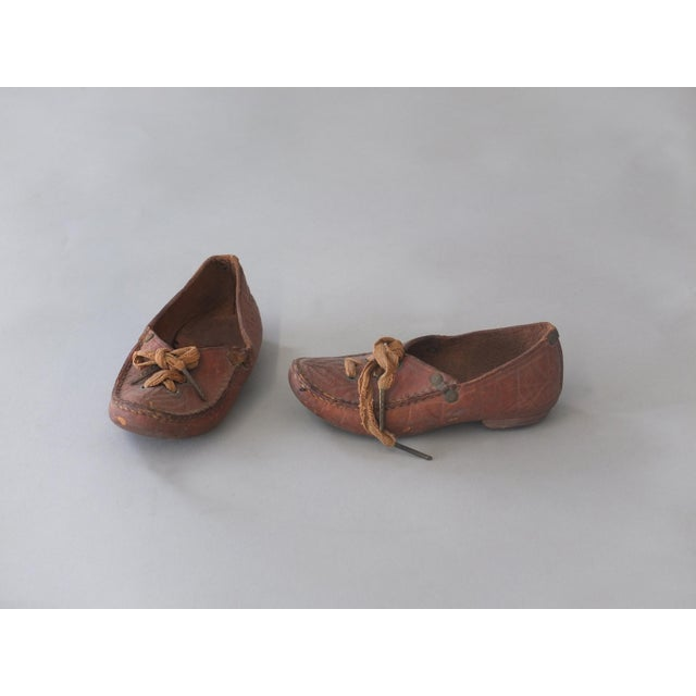Antique Sarreid Ltd Native American Child's Moccasins - A Pair - Image 2 of 5