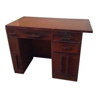 Art Deco Teak Writing Desk