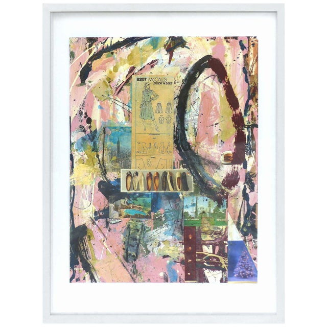 Abstract Mixed-Media Painting by William Phelps Montgomery 'Stitch in Time' For Sale - Image 10 of 10