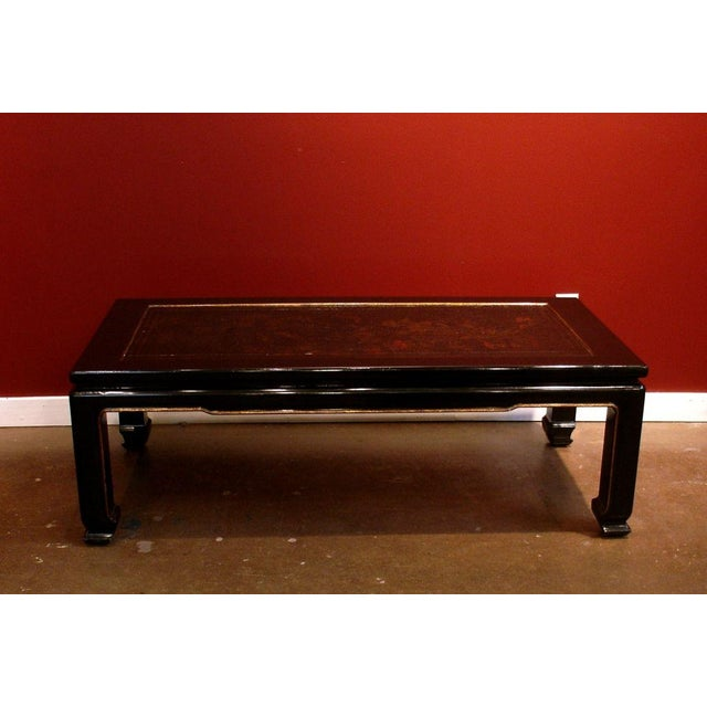 A French Chinoiserie Black Lacquer Coffee Table - Image 3 of 5