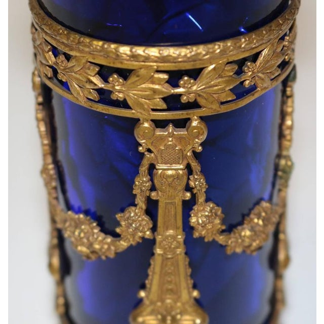 19th C. Bohemian Glass & Gilt Vase For Sale - Image 4 of 9