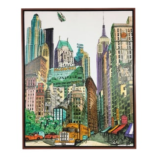 Late 20th Century New York Cityscape Canvas Print For Sale