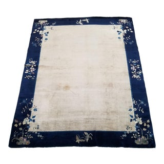 Antique Chinese Fette Rug - Early 20th Century - 9′ × 11′9″ For Sale