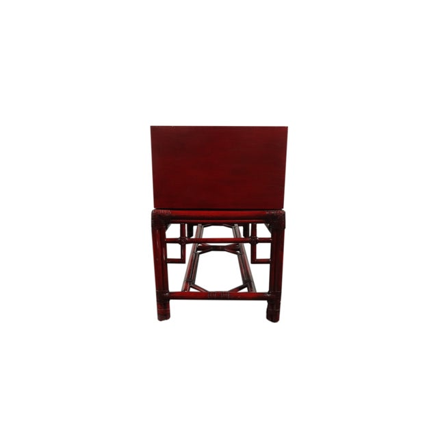 Ficks Reed Red Asian Sideboard Console - Image 9 of 11
