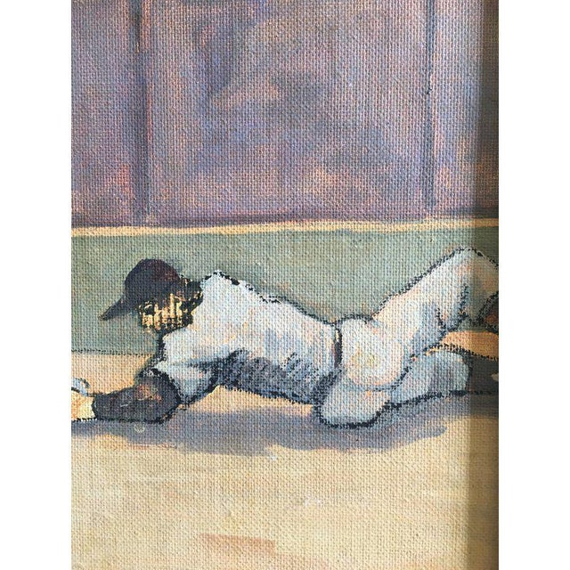 Blue Arthur Smith Baseball Watercolors From 'Baseball' Series - A Pair For Sale - Image 8 of 11