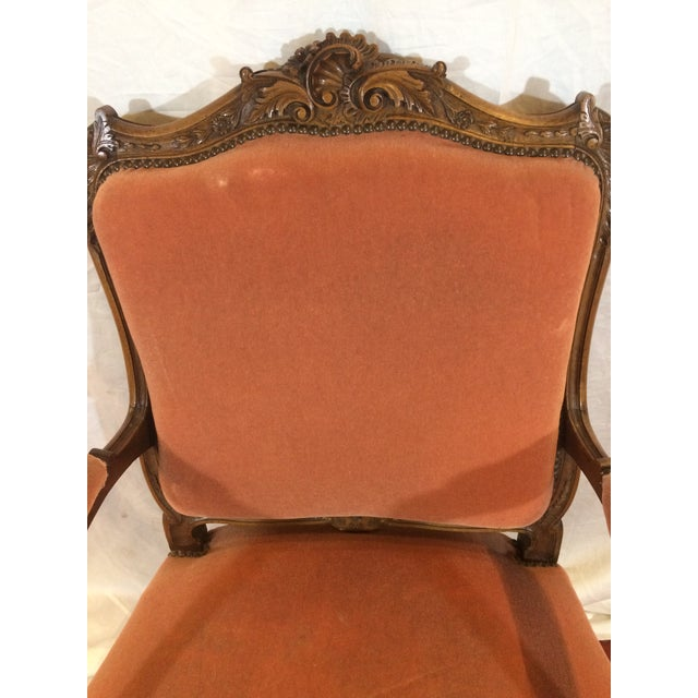 Wood Louis XV Style Arm Chairs - a Pair For Sale - Image 7 of 11