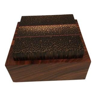 Jeffrey Seaton Signature Series Black Palm & Cocobolo Wood Box For Sale