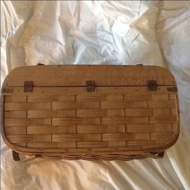 Vintage Basketville Putney Picnic Basket - Image 3 of 6