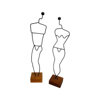Danish Modern Wire Mannequin Figures For Sale