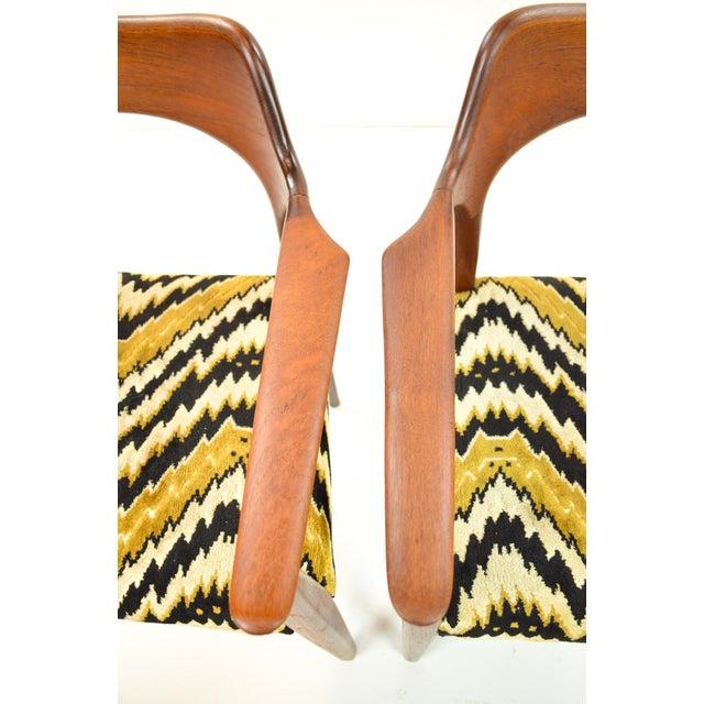 Mid-Century Modern Danish Teak Arm Chairs - A Pair - Image 10 of 10