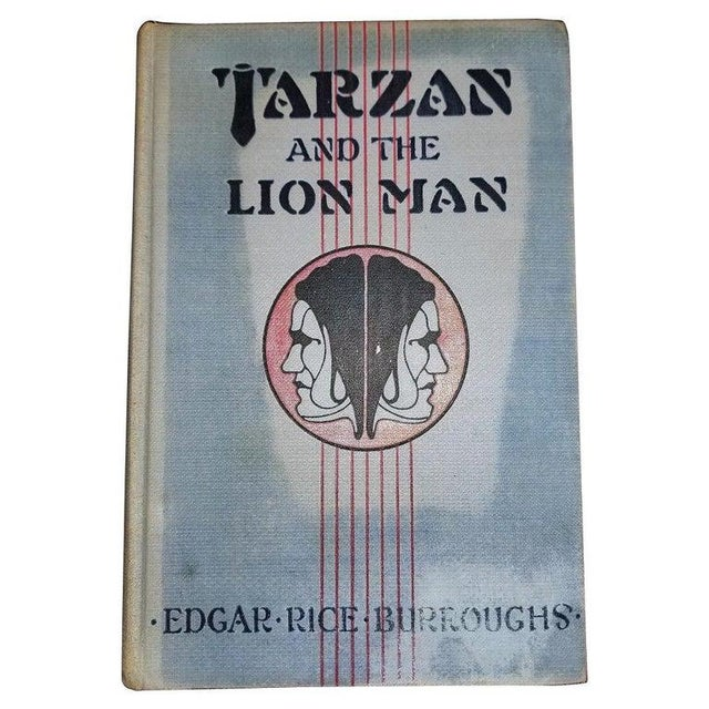 """Tarzan and the Lion Man"" 1st Edition Book by Edgar Rice Burroughs For Sale - Image 13 of 13"