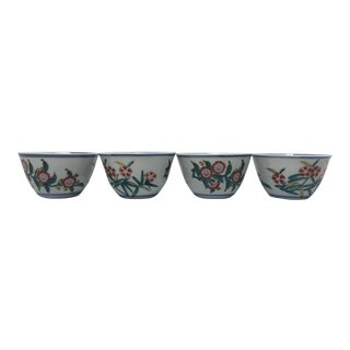 Early 20th Century Chinoiserie Rice Bowls- Set of 4 For Sale