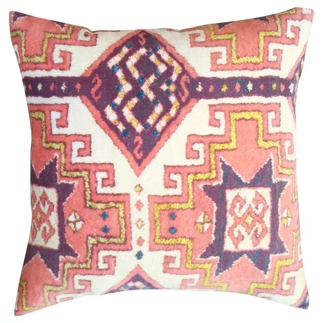 Orange Summer Velvet Pillow Cover - Image 1 of 3