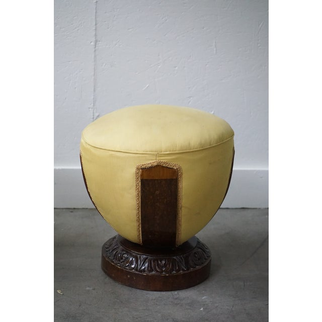 French Antique Ottoman, Sold as a Pair For Sale - Image 3 of 9