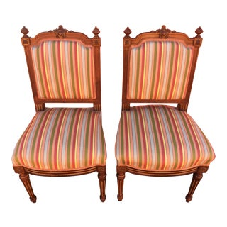 Antique French Side Chairs a Pair For Sale