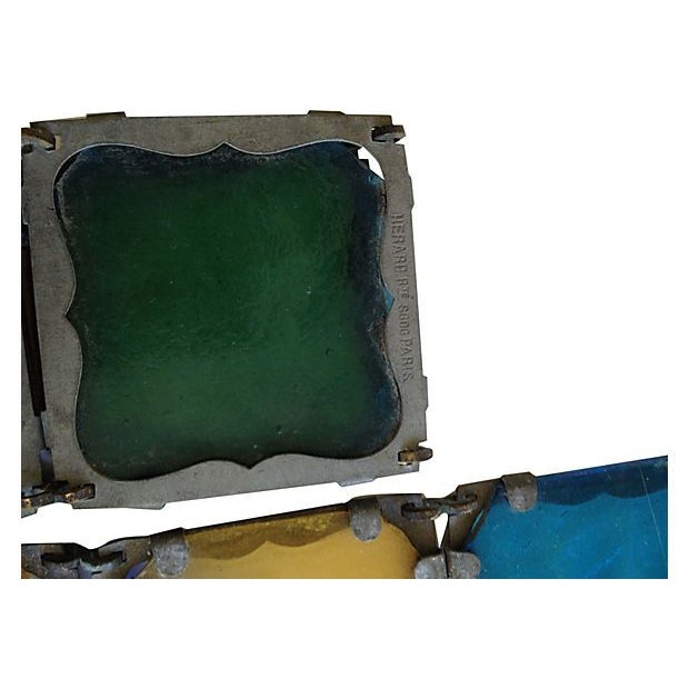 Antique French Stained Glass Window Panel - Image 3 of 6