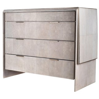 Waldorf Chest of Drawers in Cream Shagreen by R & Y Augousti For Sale