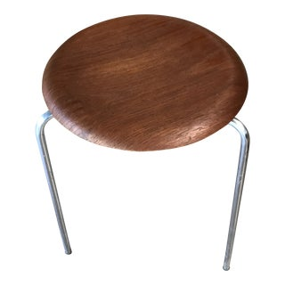 Arne Jacobsen for Fritz Hansen Danish Modern Teak Stool For Sale