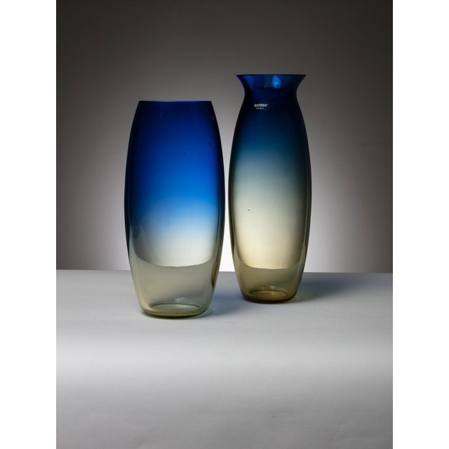 Barbini Pair of Murano Glass Vases by Barbini For Sale - Image 4 of 4