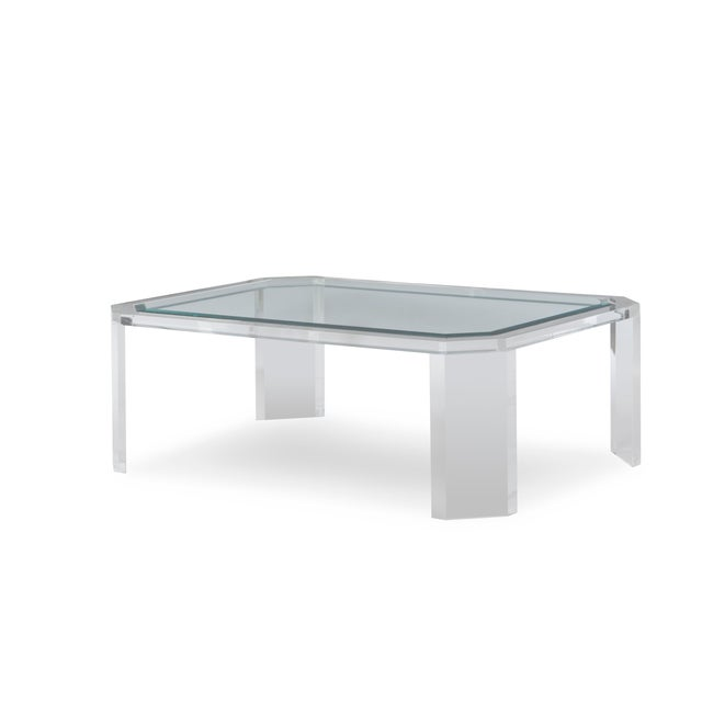 Modern Century Furniture Phoenix Coffee Table with Tempered Glass Top For Sale - Image 3 of 3