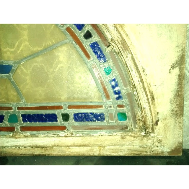 Stained Glass Victorian Window Transom - Image 3 of 6