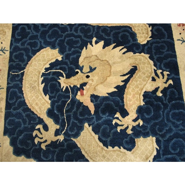 """Antique Chinese Peking Rug 4'2"""" X 6'10"""" For Sale - Image 9 of 11"""
